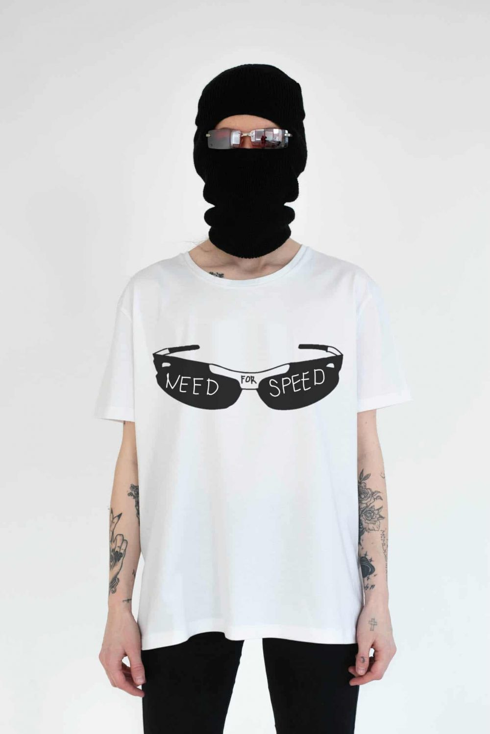 need for speed white tee