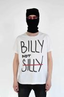 bns billy not silly white t-shirt